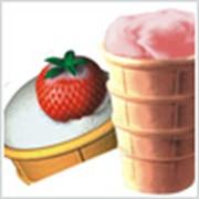 Мороженное клубничное. фото