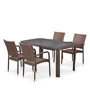 Комплект плетеной мебели T51A/Y376-W773-150x85 4Pcs Brown фото