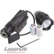 Лазерный прицел с дополнительной установкой фонаря фото