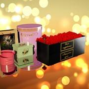 Цветочные ( шляпные) коробки с Вашими пожеланиями фото