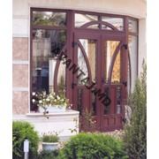 Двери из красного дерева, арт. 3 фото