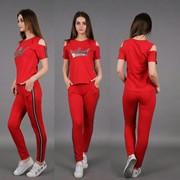 Женский спортивный костюм с декором, в расцветках. АН-5-0518 фото