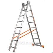 Лестница-стремянка Эйфель двухсекционная 8 ступеней 35190755 фото