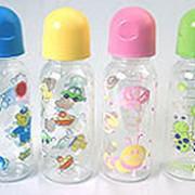 Бутылочки для кормления с силиконовой соской, с погремушкой, мягкая для каш (с ложечкой и ёршиком), с антикиколиковым клапаном и колпачком фото