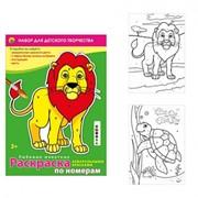 """Набор д/т раскраска по номерам """"Любимые животные"""", 6 цв., (Рыжий кот) фото"""