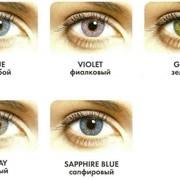 Цветные контактные линзы FreshLook colors фото