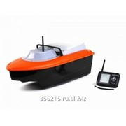 Радиоуправляемый катер Jabo-2DL-10A оранжевый с возможностью доставки прикормки для рыб фото