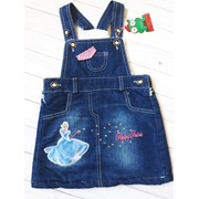 Детский стильный джинсовый сарафан, Турция. МО-11-1218 фото