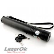 Лазер зеленый 200 мВт Pro с фокусировкой и ключами безопасности - Оригинал! фото
