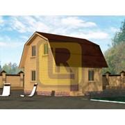 Каркасно-щитовой дом Проект №7 6х6 фото