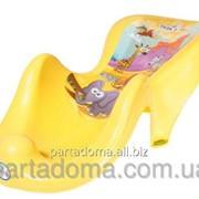 Горка для купания Tega антискользящая sf-003 сафари желтая фото