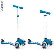 424-011 Самокат GLOBBER PRIMO Fantasy с 3 светящимися колесами SMILING Sky Blue фото