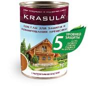 Пропитка-антисептик тонирующая для древесины KRASULA фото