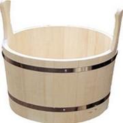 Шайка для бани и сауны деревянная на 5 л фото