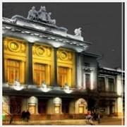 Освещение фасадов зданий фото
