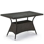 Плетеный стол T198D-W53-130x70 Brown фото