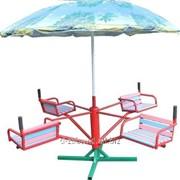 Карусель 4-местная детская с зонтиком фото