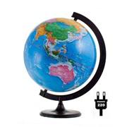 Глобус политический, 32 см, с подсветкой, на кругл. подст. (Глобусный мир) фото