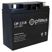 OP1218 Аккумулятор 12V18Ah Optimus фото