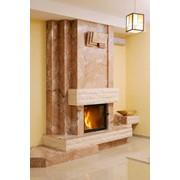 Облицовка камина - мрамор New Siena фото