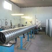 Воздуховод круглый спирально-навивной из оцинкованной стали 0,5мм фото