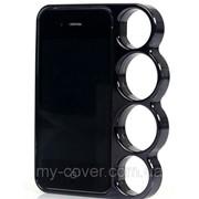 """Чехол """"Кастет"""" для iPhone 4/4S, черный фото"""