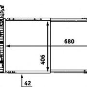 Радиатор охлаждения Mercedes Sprinter 208-416CDI (2000-2006) - D7M002TT / NRF 55348A / NIS 62519A фото
