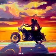 Постер с мотоциклом фото