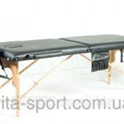 Стол массажный деревянный 2-х сегментный Body Fit Черный фото