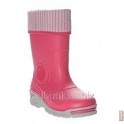 Резиновые сапоги розового цвета утепленные Bartek 16-33466/B-RPR -З фото