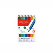 Набор карандашей цветных Carandache Fancolor Aquarelle Maxi, 12 цветов, картонная коробка 12 цветов фото
