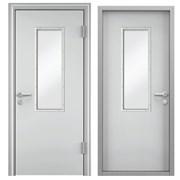 Дверь противопожарная одностворчатая (стеклоблок) фото