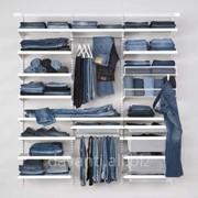 Системы хранения одежды стеллажные фото