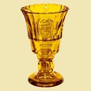 Лампада Тюльпан на ножке (желтая). Арт. Ст.1640. фото