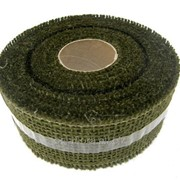 Лента джутовая зеленая R020-07 фото