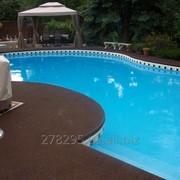Противоскользящие полы вокруг бассейнов фото