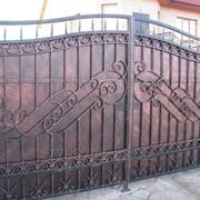 Ворота кованые распашные VR8 фото