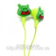 Наушники Angry Birds зеленый свин фото