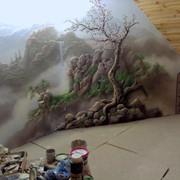 Роспись стен в Бресте барельеф фото