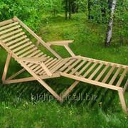 Шезлонг Пикник с подножкой natural (Микс-Мебель ТМ) фото