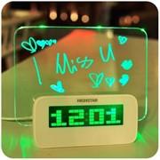 HSD1140CG NighStar часы, LED подстветка, Табло для записок, 4 USB, Зелёный фото
