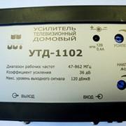Усилитель (36дБ, 120 дБмкв): Дельта УТД-1102, телевизионный, домовой, 130 абонентов фото