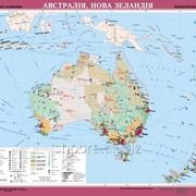 Австралія, Нова Зеландія. Економічна карта, м-б 1:6 000 000 (на планках) фото