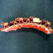 Сувенир Набор 7 слонов красные 28х10см 4431 фото