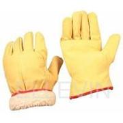 Перчатки кожаные утепленные мех мутон фото