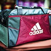 Спортивная дорожная сумка ADIDAS большая 50х24х30см серая фото