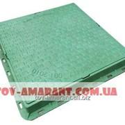 Зеленый люк пластиковый квадратный А15 садовый 1 т фото