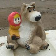 Гипсовая статуэтка Маша и медведь фото
