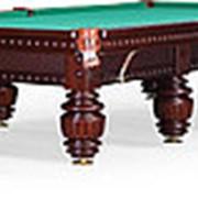 Бильярдный стол для русского бильярда Turnus II 12ф (махагон) фото