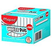 Мел Maped WHITE'PEPS белый, круглый, 100шт фото